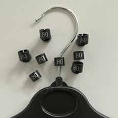 Minireitery 80, 25ks, čierne, strieborná tlač