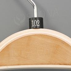 Minireitery 102, 25 ks, čierne, strieborna tlač