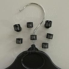 Minireitery 104, 25ks, čierne, strieborná tlač