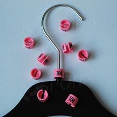 Minireitery 104, 25 ks, ružové