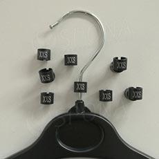 Minireitery XXS, 25ks, čierne, strieborná tlač