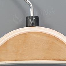 Minireitery M, 25 ks, čierne, strieborná potlač
