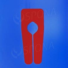 Rozlíšovač na štendre bez tlače, červený