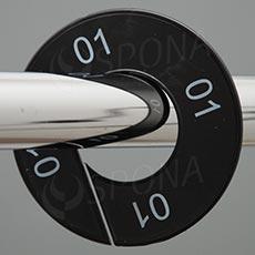 Veľkostný kruhy 01 čierne, biele písmo
