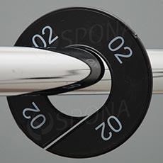 Veľkostné kruhy 02 čierne, biele písmo