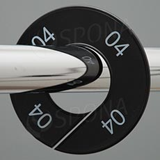 Veľkostné kruhy 04 čierne, biele písmo