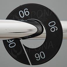 Veľkostné kruhy 06 čierne, biele písmo