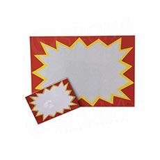 Cenovka plastová popisovacia, 130 x 100 mm, červená