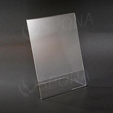 Plexisklový L stojanček A4 výška a šírka, 210 x 297 mm