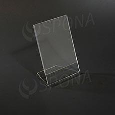 Plexisklový L stojanček A6 výška a šírka, 105 x 148 mm