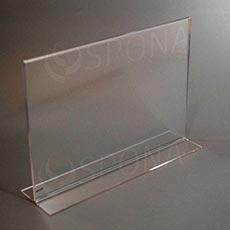Plexisklový I stojanček A4 šírka, 297 x 210 mm