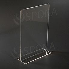 Plexisklový I stojanček A5 výška, 148 x 210 mm