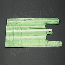 Taška 4 kg HDPE, zelenobiela, 22 + 10 x 44 cm, 100 ks