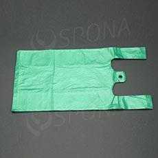 Taška 4 kg HDPE, zelená, 22 + 10 x 44 cm, 100 ks