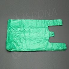 Mikroténová taška HDPE, nosnosť 10 kg, zelená, 30 + 16 x 50 cm, 100 ks