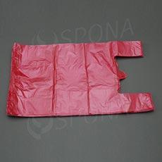 Mikroténová taška HDPE, nosnosť 12 kg, červená, 33 + 16 x 60 cm, 100 ks
