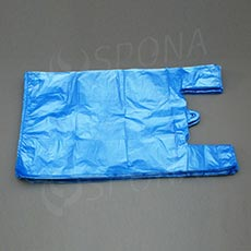 Mikroténová taška HDPE, nosnosť 12 kg, modrá, 33 + 16 x 60 cm, 100 ks