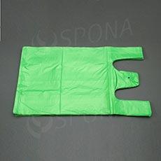 Mikroténová taška HDPE, nosnosť 12 kg, zelená, 33 + 16 x 60 cm, 100 ks