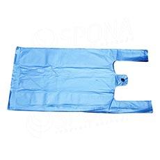 Mikroténová taška HDPE, nosnosť 4 kg, 25 + 2x6x45 cm, modrá, 100 ks