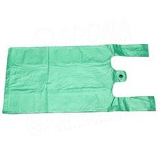 Mikroténová taška HDPE, nosnosť 4 kg, 25 + 2x6x45 cm, zelená, 100 ks