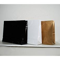 Taška papierová LAMINO 54x16x43 cm, biela lesklá