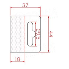 HANG háčik BEST na EURO závesy, 44 x 37 mm, 1.000 ks
