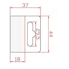 HANG háčik BEST na EURO závesy, 44 x 37 mm