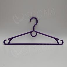 Plastový vešiak 40 cm, otočný hák, fialový