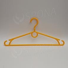 Plastový vešiak 40 cm, otočný hák, žltý