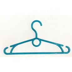 Plastový detský vešiak 32 cm, otočný hák, modrý