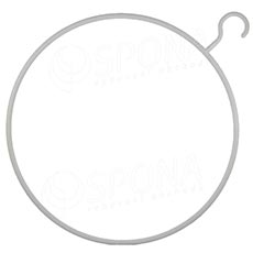 """Plastový vešiak """"kruh"""" 41 cm biely"""