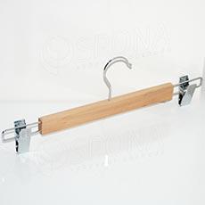 Drevený vešiak BT nohavicový, so štipcami, 35 cm