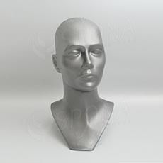 Hlava DITA plastová, strieborná