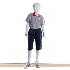 Figurína detská AF 03, chlapec 145 cm, matná biela