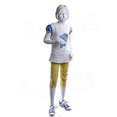 Figurína detská AF 04, dievča 145 cm, matná biela