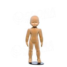Figurína detská FLEXIBLE 9 mesiacov, prelis, telová, flok, bez podstavca
