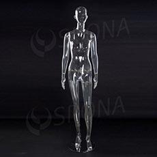 Figurína dámska transparetná EKO 01, polykarbonát