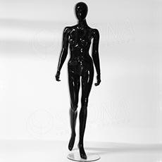 Figurína dámska Portobelle 153C, abstraktná lesklá čierna