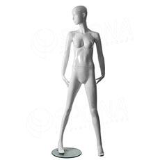 Figurína dámska Portobelle 205G, abstraktná lesklá biela
