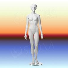 Figurína dámska ADRIANA 01, prelis, biela matná