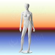 Figurína dámska ADRIANA 02, prelis, biela matná