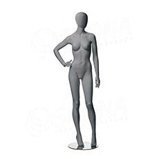 Figurína dámska CITY 03, matná šedá