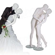 Figurína zamilovaná dvojica, matná biela