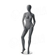 Figurína dámska CITY 04, matná šedá