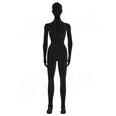 Figurína dámska FLEXIBLE, prelis, čierna, flok