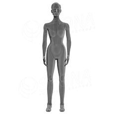 Figurína dámska FLEXIBLE, prelis, šedá, flok