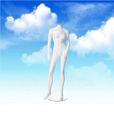 Figurína dámska LIZ 01, biela matná, bez hlavy