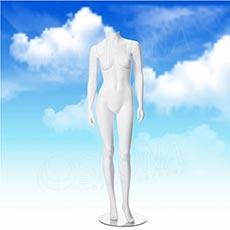 Figurína dámska LIZ 02, biela matná, bez hlavy