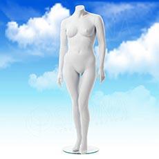 Figurína dámska XXL, matná biela, bez hlavy