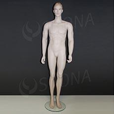Figurína pánska 6065 + KY6022, prelisované vlasy, farba svetlá, bez podstavca